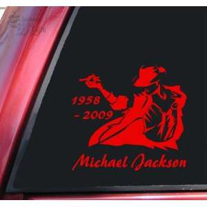 Michael Jackson 1958   2009 Vinyl Decal Sticker   Red