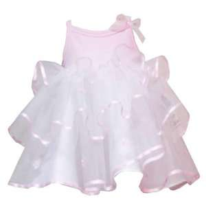 Rare Editions Baby/Infant Girls 12M 24M 2 Piece PINK TO WHITE TIERED
