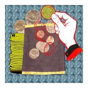 Coin Bag Invisable Magic Trick Money Appear Vanish