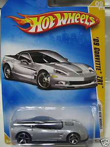 2009 Hot Wheels Chevy Corvette ZR1 SILVER Awesome Car
