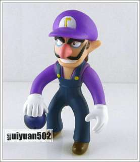 New Super Mario Bros Waluigi Action Figure Toy Doll ZMR