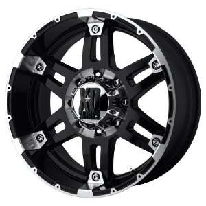 18x8.5 KMC XD Spy (Gloss Black / Machined) Wheels/Rims