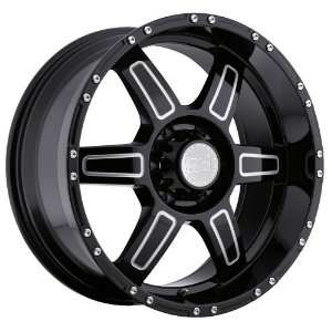 18x9 Black Rhino Borrego (Gloss Black w/ Milled Spokes) Wheels/Rims