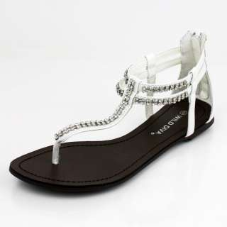 WALTZ 220 Flats by WILD DIVA in White Patent