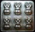 Wilton Cake Pan Mini Bunny Rabbit Easter Spring 1992