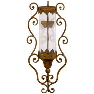 Wrought Iron Wall Sconce Candle Holder 8.5x25   89856