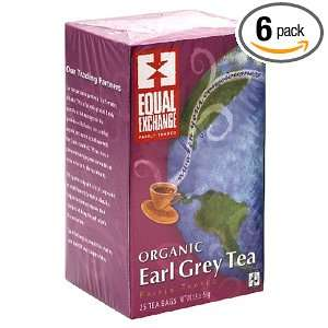 Equal Exchange Organic Earl Grey Tea, 25 Count Boxes (Pack of 6)