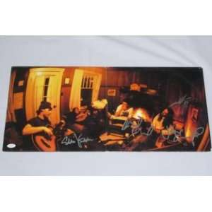 PEARL JAM BAND SIGNED AUTHENTIC ALBUM COVER JSA WOW