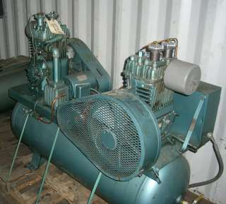 QUINCY 2 H.P. HORIZONTAL TANK MOUNT TWIN AIR COMPRESSORS, Click to