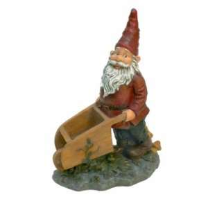 Wheeler with the Wheelbarrow Garden Gnome Statue Patio, Lawn & Garden