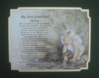 PERSONALIZED GRANDSON POEM GIFT IDEA FOR NEW GRANDCHILD BOY ANGEL
