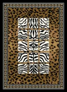 SAFARI area rug 5x8 JUNGLE CANVAS
