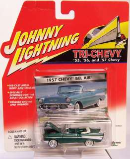 Johnny Lightning TRI CHEVY 1957 57 CHEVY BEL AIR NEW 1/64 Diecast