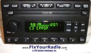 FORD RADIO 6 DISC CD CD ERROR Repair Instructions