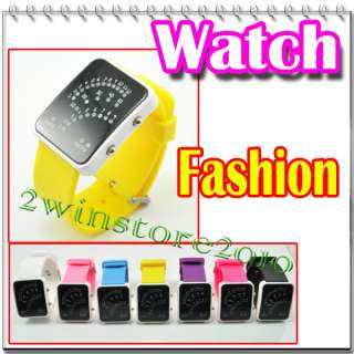Colorful cool jelly LED wrist watch time Sports Unisex mens lady girls