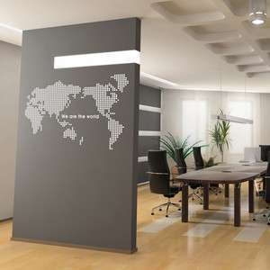 Map of The World Adhesive Removable Wall Decor Accents Graphic