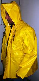 Heavy Duty USA Made Rain Jacket PVC Yellow sz. Small