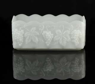 Anchor Hocking Fire King White Planter Grape Leaf Dish