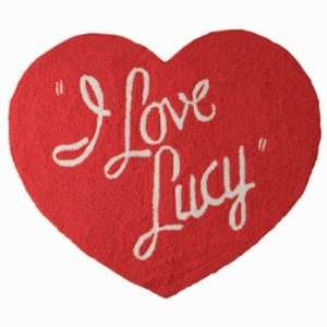 Love Lucy Lucille Ball TV Show Heart Shaped Logo Floor Rug New Gift