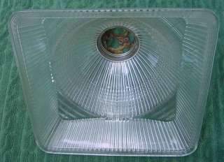 Original Art Deco Clear Glass Ceiling Light Fixture