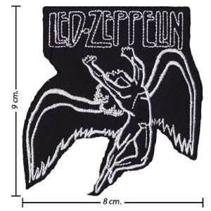 Led Zeppelin Music Band Logo II Embroidered Iron on Patches Free