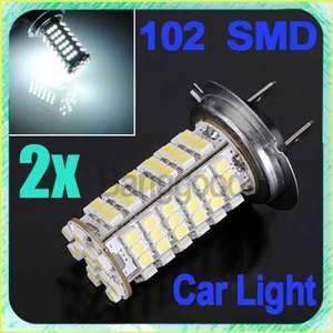 H7 12V 102 3528 SMD LED Head Light Bulb Lamp White