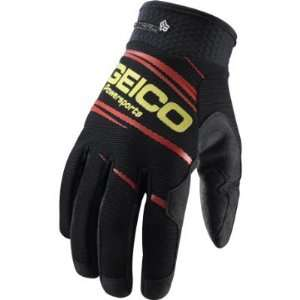 2011 Fox Racing Geico PitPaw Gloves   Black   12 (XX Large
