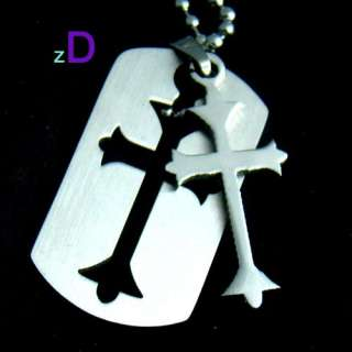 B4001 Vogue Men Stainless Steel Cross Pendant Necklace