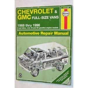 Chevrolet & GMC Full size vans 1968 thru 1996 (Haynes