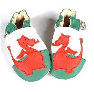 WALES WELSH DRAGON FLAG LEATHER BABY GIRLS BOYS SHOES