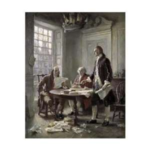Jean Leon Gerome Ferris   Drafting The Declaration Of