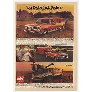 1975 Dodge Pickup Truck Medium Duty Farm Trucks Print Ad