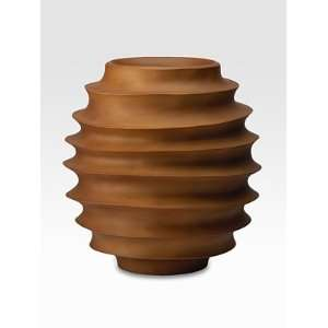 Donna Karan Ripped Wood Vase/Short