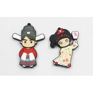 Cartoon USB Flash Memory Drive 8gb Princess + Consort