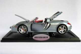 Porsche Carrera GT 118 Alloy Diecast Model Car With Box Silver B156