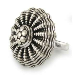 Sterling silver cocktail ring, Dancing Anemone Jewelry