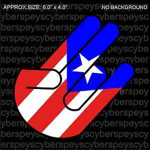 Puerto Rico Shocker Drift Racing JDM Design Vinyl Decal