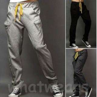 Fashion Mens Casual Sport Trousers Simple Design Pants Black Z1227