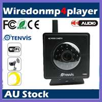 Genuine TENVIS Black Wireless Security IP Camera WiFi Internet Webcam