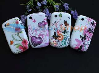 4x Butterfly Soft Cover Cases For Blackberry Curve 8520