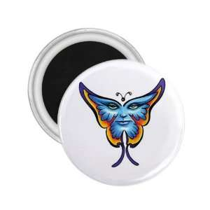 Tattoo Butterfly Face Art Fridge Souvenir Magnet 2.25