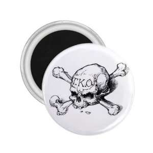 Tattoo Skull Art Fridge Souvenir Magnet 2.25