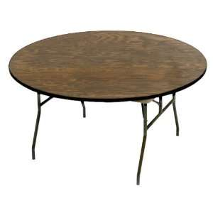 McCourt Manufacturing Round Plywood Folding Table