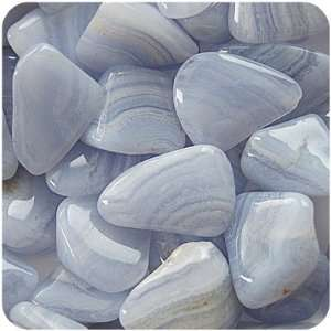 BLUE LACE AGATE   Tumbled Stones 10 SMALL Crystals Health