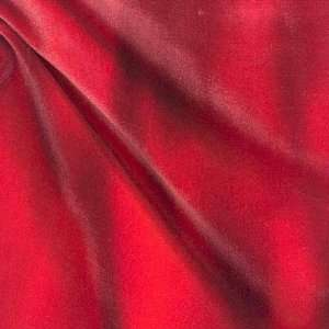 58 Wide Stretch Velvet Lava Flow Red Fabric By The Yard