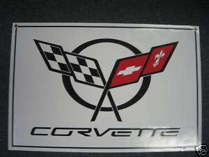 CHEVROLET CORVETTE BANNER FLAG SIGN DECAL CHEVY RACING