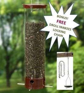 DROLL YANKEES YANKEE DIPPER SQUIRREL PROOF BIRDFEEDER PLUS FREE
