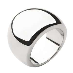 Womens Stainless Steel Ring In All Polished Steel with