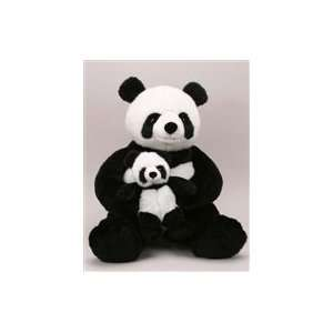 Stuffed Jolie Panda With Baby 26 Inch Plush Animal Toys
