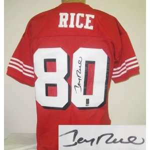 Jerry Rice Autographed Uniform   Sf1994 Style   Autographed NFL